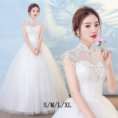 ウエディングドレス 二次会ドレス 女性 音楽会 花嫁ドレス レース 結婚式 マキシ お呼ばれ 上品 ロング丈 イブニングドレス