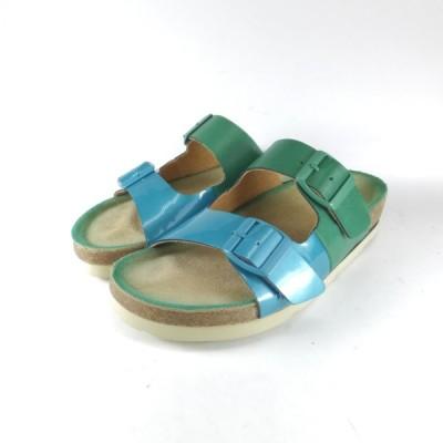ラボキゴシ 靴 absolute アブソルテ ラボキゴシ 7648 BLUE フットベットサンダル コンフォートサンダル ストラップサンダル ツーバーコルク 履きやすいサンダル