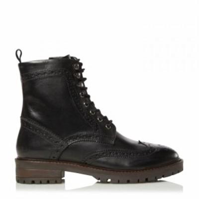 デューン Dune London レディース ブーツ ブローグ シューズ・靴 Dune Purely Brogue Smart Boots Black