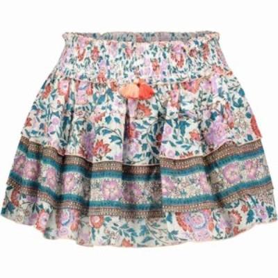 プーペット セント バース Poupette St Barth レディース ミニスカート スカート Ariel floral cotton miniskirt White Purple Celery