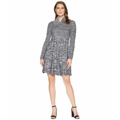 Calvin Klein カルバンクライン ドレス 一般 Marled Cowl Neck Fit & Flare Sweater Dress CD8W2PU5
