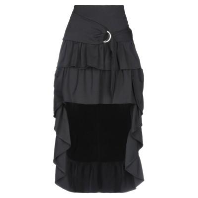 オディエアモ ODI ET AMO ひざ丈スカート ブラック XS ポリエステル 63% / レーヨン 34% / ポリウレタン 3% ひざ丈スカート