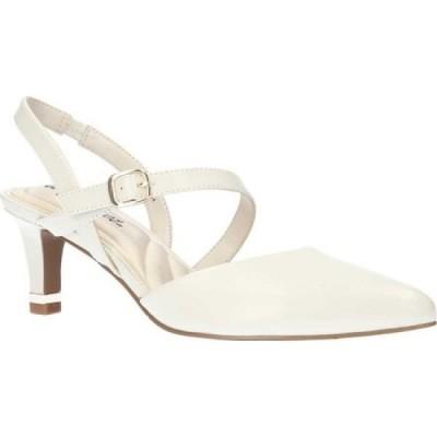 イージーストリート Easy Street レディース ヒール シューズ・靴 Trissa Heel Rand Quarter Strap Shoe Bone Synthetic