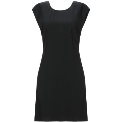 カルラ ジー CARLA G. ミニワンピース&ドレス ブラック 38 アセテート 68% / レーヨン 31% / ポリウレタン 1% ミニワンピ