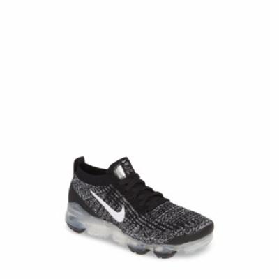 ナイキ NIKE レディース スニーカー シューズ・靴 Air VaporMax Flyknit 3 Sneaker Black/White/Metallic Silver