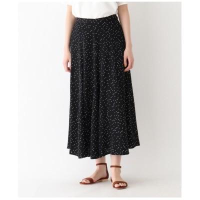 【洗える】サテンフレアロングスカート
