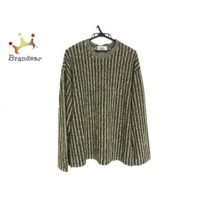 ミッソーニスポーツ 長袖セーター サイズ46 XL メンズ - グリーン×アイボリー×ネイビー 新着 20210414