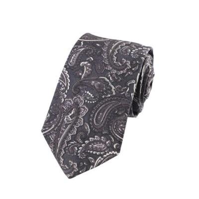 男性 メンズ ファッション パーティー カジュアル ネクタイ ブラック花柄