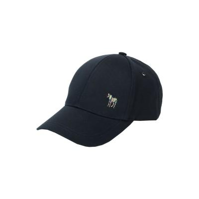 PS PAUL SMITH 帽子 ダークブルー one size オーガニックコットン 100% 帽子