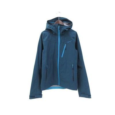 【中古】ケシュア Quechua ナイロン ジャケット M 緑 グリーン ロゴ プリント アウトドア 2556605 メンズ 【ベクトル 古着】