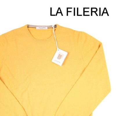 【超PayPay祭 限定価格!】LA FILERIA(ラフィレリア) 丸首セーター 55167 イエロー 54 18639ye 【W18640】