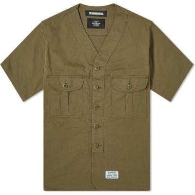 ネイバーフッド Neighborhood メンズ 半袖シャツ トップス short sleeve scout shirt Olive Drab