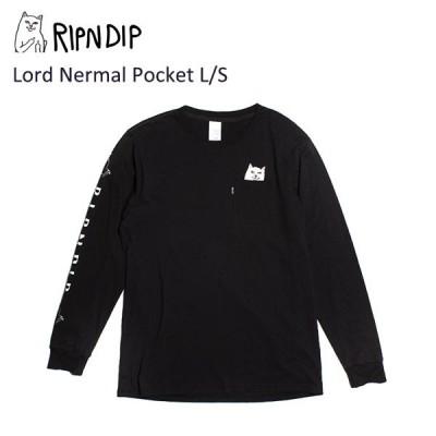 リップンディップ(RIPNDIP) Lord Nermal Pocket L/S  Black 長袖 Tシャツ/ロングスリーブ /メンズ [BB]