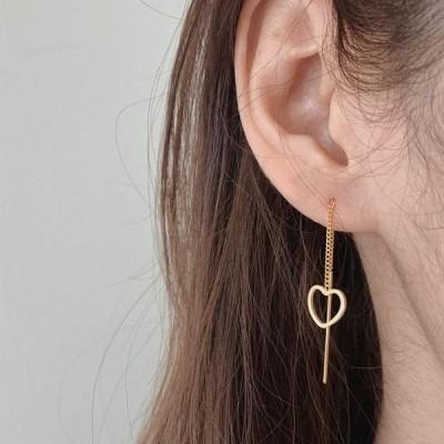 HEYLADY レディース イヤリング Venic heart earrings