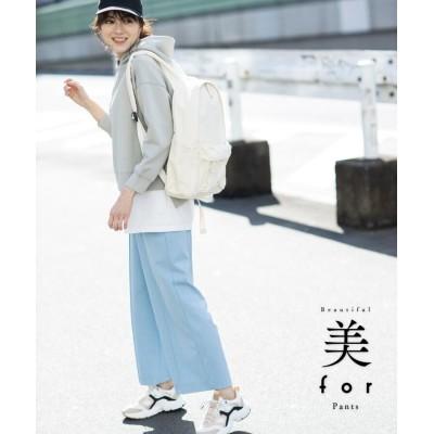 THE SHOP TK(Women)(ザ ショップ ティーケー(ウィメン)) 【美forパンツ】ワイドストレート