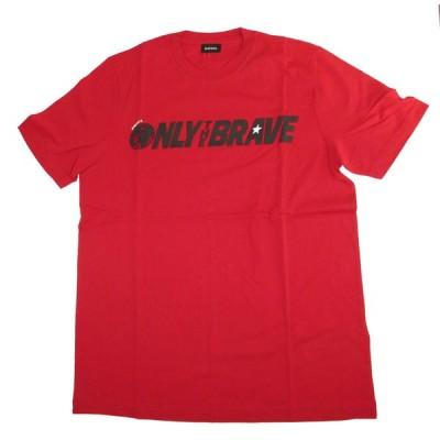 ディーゼル メンズ Tシャツ DIESEL T-JUST-SV T-SHIRT 00SD92-0091B-41U RED
