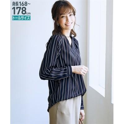 トールサイズ Vネックブラウス 【高身長・長身】シャツ・ブラウス, tall size, Blouses, Shirts,