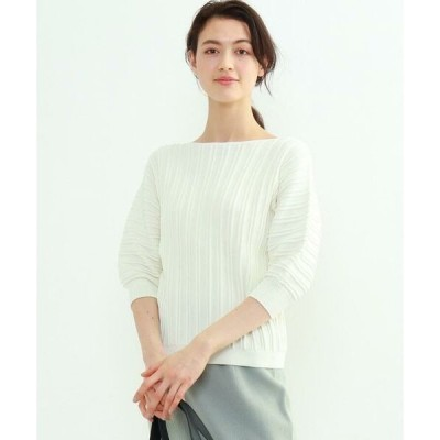 INDIVI / インディヴィ 【WEB限定カラー】ホールガーメント(R)パフスリーブニット