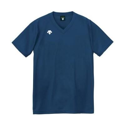 デサント(DESCENTE) ジュニア バレーボールウェア V首 半袖 ゲームシャツ Jr ネイビー DSS4321 NVY キッズ 子供用 トップス Tシャツ 練習 部活 クラブ