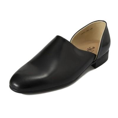 【HARUTA】 ハルタ M'S SPOCK SHOES スポックシューズ 850 BLACK 27.5cm ブラック