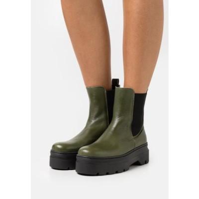 レディース 靴 シューズ VIOLA - Platform ankle boots - green