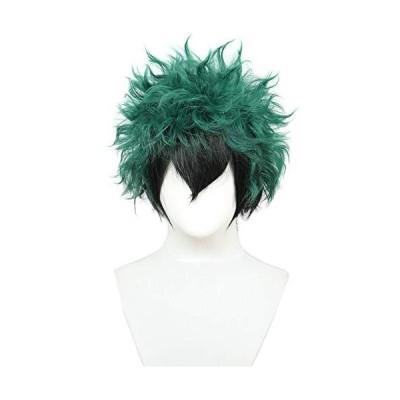 Codeven Halloween Costume Cosplay Party Wig (Black Green)