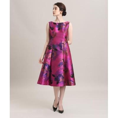 (ef-de/エフデ)《M Maglie le cassetto》フラワージャガードドレス/レディース ピンク1