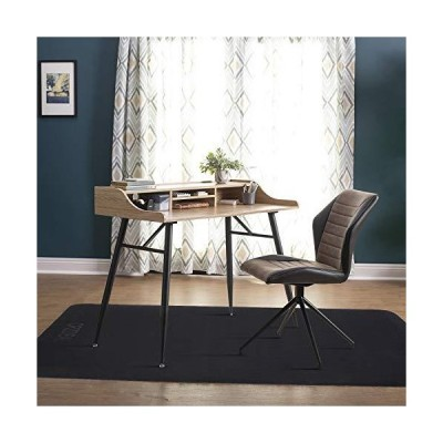 CRZDEAL チェアマット 100*120cm ずれない フローリング デスク 椅子 床 保護マット 傷防止 滑り止め 丸洗い可能 カ