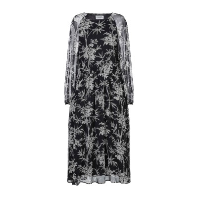 エッセンシャル・アントワープ ESSENTIEL ANTWERP 7分丈ワンピース・ドレス ブラック 34 シルク 100% 7分丈ワンピース・ドレス