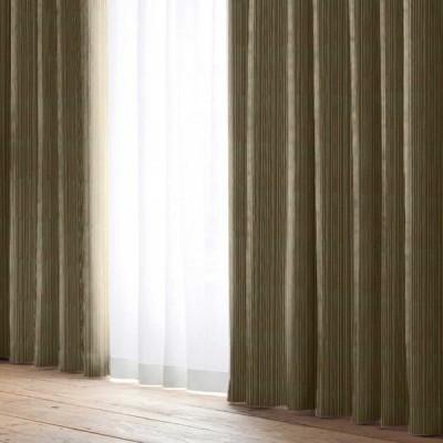 厚地カーテン D.ココモ(2枚組) ブラウン 幅100×丈135cm