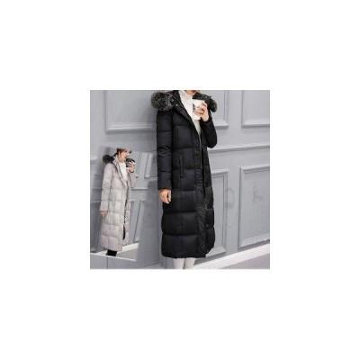 ダウンコート ロングコート ホワイトグース ブラック グレー S〜2XL