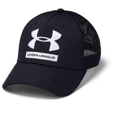 アンダーアーマー メッシュ 吸汗 キャップ UA Training Trucker Cap 1351417 001 帽子 : ブラック UNDER ARMOUR
