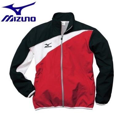 ◆◆ <ミズノ> MIZUNO トレーニングクロスシャツ[ジュニア] N2JC7420 (69:レッド×ブラック)