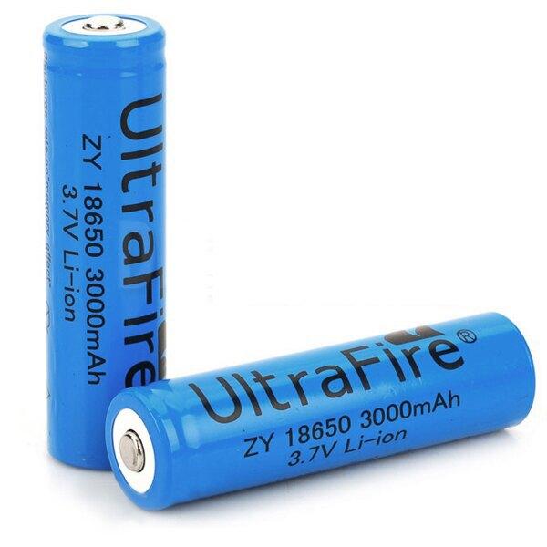 18650 3000mAh 3.7V Li-ion 充電電池 強化 藍色 高容量  (19-310)