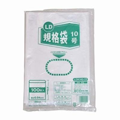 伊藤忠リーテイルリンク LD規格袋 0.04mm 10号 100枚入
