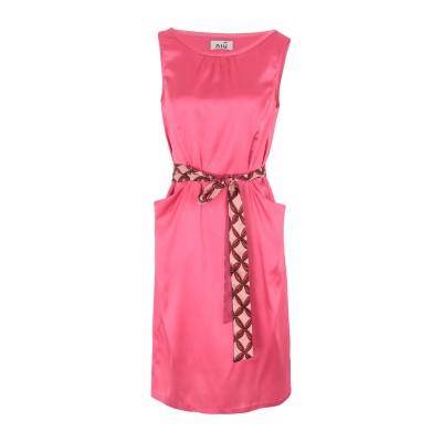 NIŪ ミニワンピース&ドレス フューシャ S シルク 95% / ポリウレタン 5% ミニワンピース&ドレス