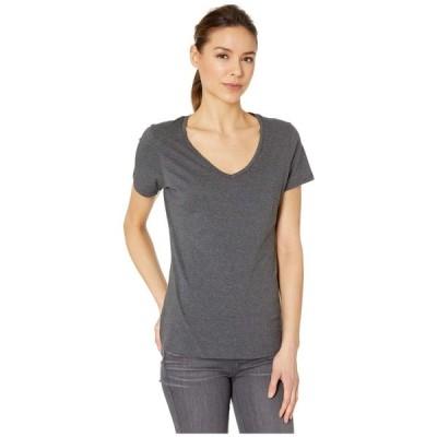パクト PACT レディース Tシャツ Vネック トップス Organic Cotton Featherweight V-Neck Tee Charcoal Heather