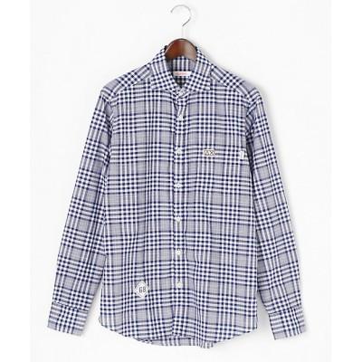 <SUN68(Men)/サンシックスティーエイト> チェックシャツ(S8S22S) ネイビー【三越伊勢丹/公式】