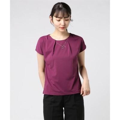 tシャツ Tシャツ ネックレス付きベーシックトップス