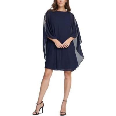 ヴィンス カムート Vince Camuto レディース ワンピース ワンピース・ドレス Embellished A-Line Dress Navy Blue