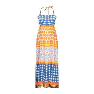 LFDL ロングワンピース&ドレス オレンジ S リネン 100% ロングワンピース&ドレス