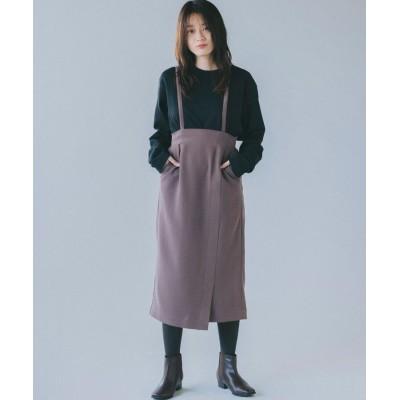 THE SHOP TK(Women)(ザ ショップ ティーケー(ウィメン)) コーデュロイラップスリットタイトスカート