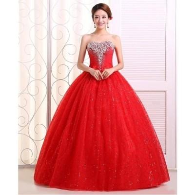 二点お嫁ウェディングドレス豪華なウェディングドレス☆ロングドレス☆☆格安スチェドレス