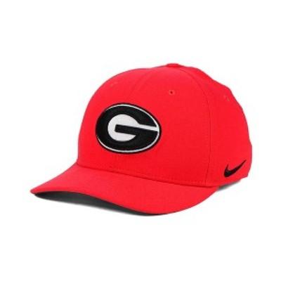 ナイキ メンズ 帽子 アクセサリー Georgia Bulldogs Classic Swoosh Cap Red
