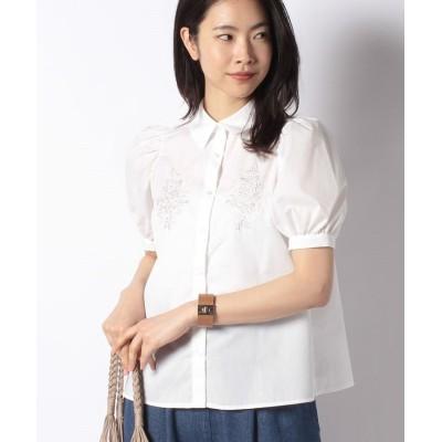 【オリーブデオリーブ】 胸刺繍ブラウス レディース オフホワイト F OLIVE des OLIVE