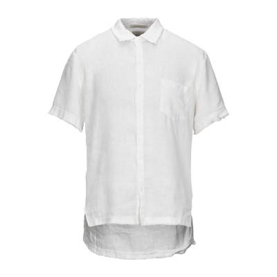 CROSSLEY シャツ ホワイト M リネン 100% シャツ