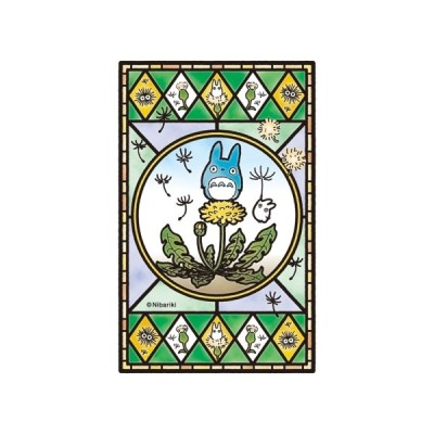 【新品】ジグソーパズル となりのトトロ たんぽぽ咲く日 フロストアートジグソー126ピース(10x14.7cm)<エンスカイ>