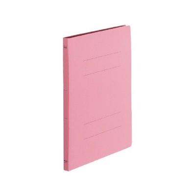 フラットファイル(100冊パック) A4縦 樹脂製とじ具15ミリとじ ピンク CビTP-FF-V10PX100