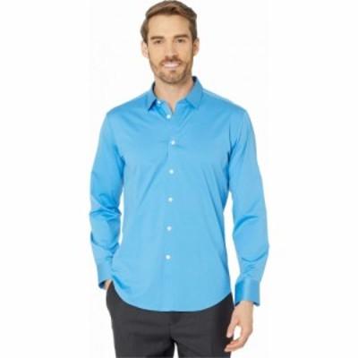 ブガッチ BUGATCHI メンズ シャツ トップス Zanobi Long Sleeve Button-Down with Bonded Seams - French Placket Classic Blue