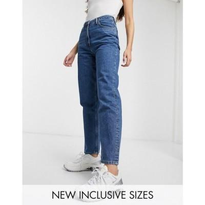 コルージョン Collusion レディース ジーンズ・デニム ボトムス・パンツ COLLUSION x006 mom jeans in dark stone wash blue ブルー